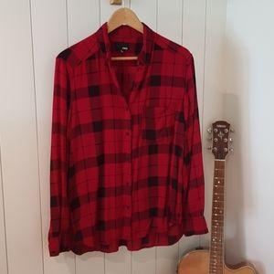 (Aritzia) Wilfred Free checked shirt S